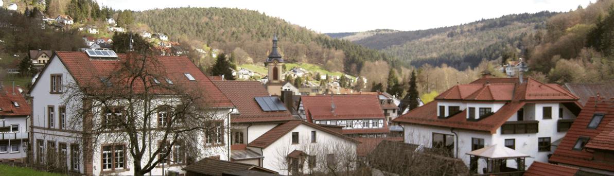 Heiligkreuzsteinach mit Rathaus